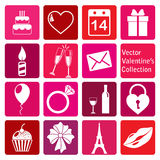 Vector collection: st. valentine's day icons. Vector collection of st. valentine's day icons Stock Image