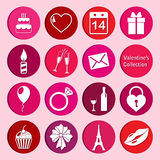 Vector collection of st. valentine's day icons Royalty Free Stock Photos