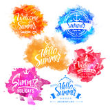Vector Collection of Summer and Holidays Labels Royalty Free Stock Photos