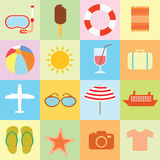 Vector collection Summer Icons. doodle illustration Stock Photography
