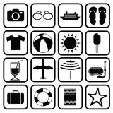 Vector collection Summer Icons. doodle illustration Royalty Free Stock Images