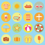 Vector collection Summer Icons. doodle illustration Royalty Free Stock Photo