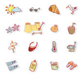 Vector collection Summer Icons. doodle illustration Stock Images