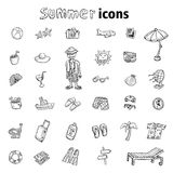 Vector collection Summer Icons. doodle illustration Stock Photos