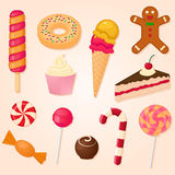Vector collection of sweets Royalty Free Stock Photography