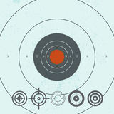 Vector collection of target flat icons. Royalty Free Stock Photo