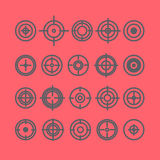 Vector collection of target flat icons. Stock Photo
