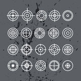 Vector collection of target flat icons. Stock Photos