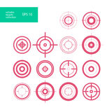 Vector collection of target flat icons. Crosshairs group. Aims isolated Stock Photos