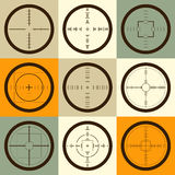Vector collection of target flat icons. Royalty Free Stock Image