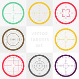 Vector collection of target flat icons. Royalty Free Stock Photography