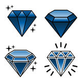 Vector collection of tattoo diamonds in new school style Stock Image