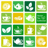 Vector collection: tea icons Royalty Free Stock Photo