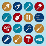 Vector collection of tool icons Royalty Free Stock Photo