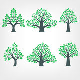Vector Collection of Tree Silhouettes. Set royalty free illustration