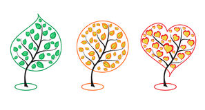 Vector Collection of trees Royalty Free Stock Photos