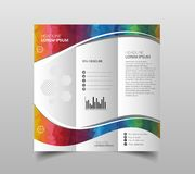 Vector collection of tri-fold brochure design templates with modern polygonal background on white. Vector collection of tri-fold brochure design templates with vector illustration