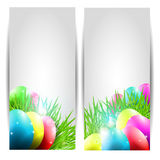 Vector Collection of Two Easter Cards with Eggs an Stock Photo