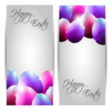 Vector Collection of Two Easter Cards with Purple  Stock Photo