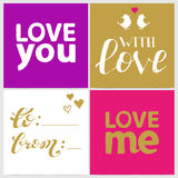 Vector collection for Valentines cards Stock Images