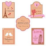 Vector collection of valentines day design Royalty Free Stock Photography