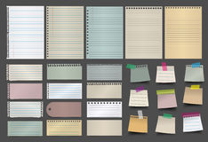 Vector collection of various papers Royalty Free Stock Image