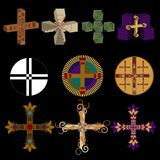 Vector collection of varius crosses Stock Photo