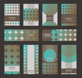 Vector collection of vertical business cards and horizontal bann Royalty Free Stock Image