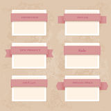 Vector collection vintage and retro labels Stock Photo