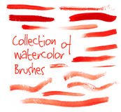 Vector collection of watercolor brushes Stock Images