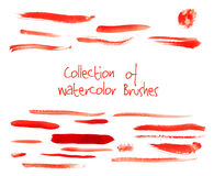 Vector collection of watercolor brushes Stock Image