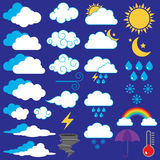 Vector Collection of Weather Icons Stock Images
