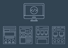 Vector collection of web development icons - html Royalty Free Stock Images