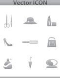 Vector collection web icon. Set pictogram Stock Images