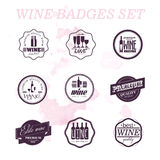 Vector collection of wine badges. vector illustration