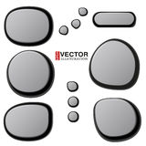 Vector Collections of Spa Stones Stock Photography