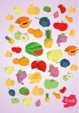 Vector coloful vruchten Stock Fotografie