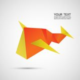 Vector color abstract creative icon airplane eps Royalty Free Stock Image