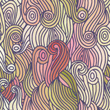 Vector color abstract hand-drawn hair pattern Royalty Free Stock Photos
