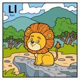 Color alphabet for children, letter L lion. Vector color alphabet for children, letter L lion Vector Illustration
