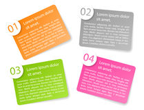 Vector color angular paper option labels. Set of vector color angular paper option labels with number of option Stock Images