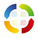 Vector color arrow circle Stock Image