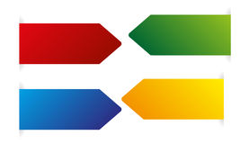 Vector color arrows Stock Photos