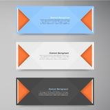 Vector color banners. Curve and paper origami Royalty Free Stock Photos