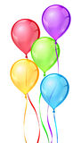 Vector color birthday party balloons Royalty Free Stock Images