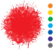 Vector color blots - set of elements for design Royalty Free Stock Photography