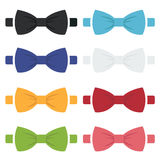 Vector color bow ties icons set Royalty Free Stock Photo