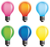 Vector color bulbs. Royalty Free Stock Photography