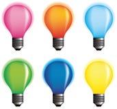 Vector color bulbs. Royalty Free Stock Photography