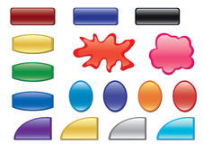 vector color buttons with different forms Royalty Free Stock Photos